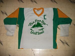 VINTAGE CANADIAN MINOR REC BEER LEAGUE GAME USED HOCKEY JERSEY ... 1a321922926