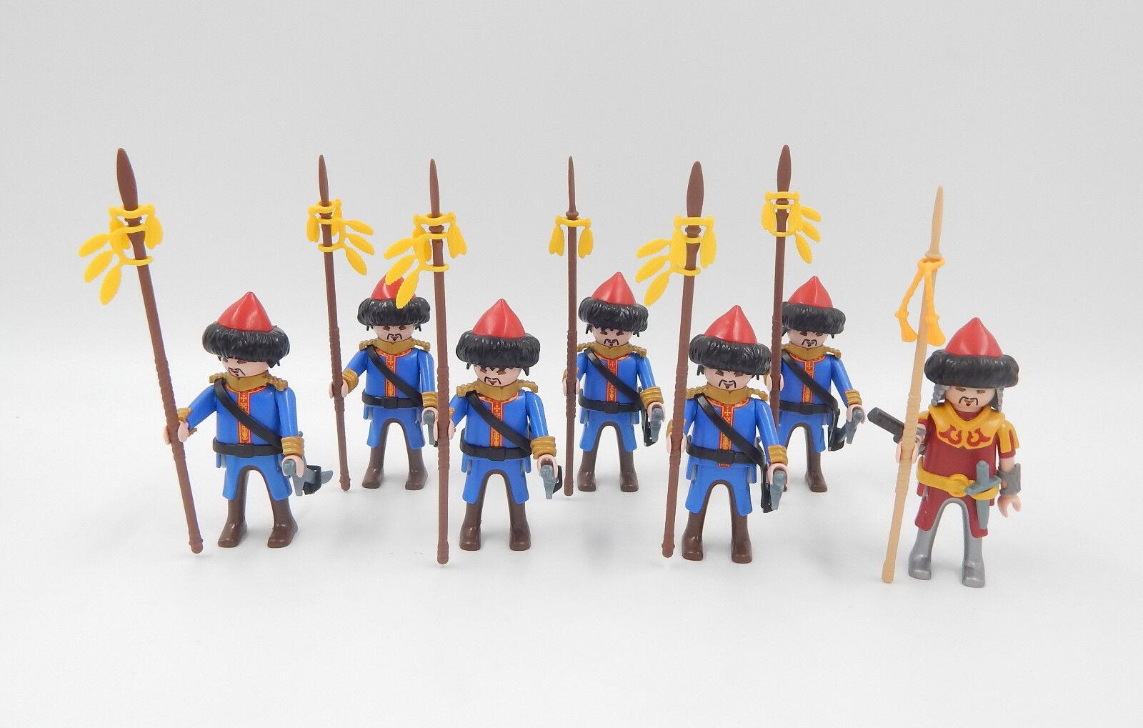 Playmobil Figuren Mongolen Krieger Trupp Reitervolk Hunnen     Warriors 69f3b5