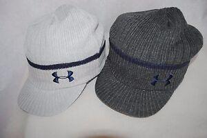 New Under Armour UA Winter knit cuff Brim beanie Man s Cap gray ... 1c806b04218