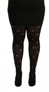 1274963e6b9 Gothic Cross Opaque Black Tights Plus size 16-32 xl xxl xxxl Pamela ...