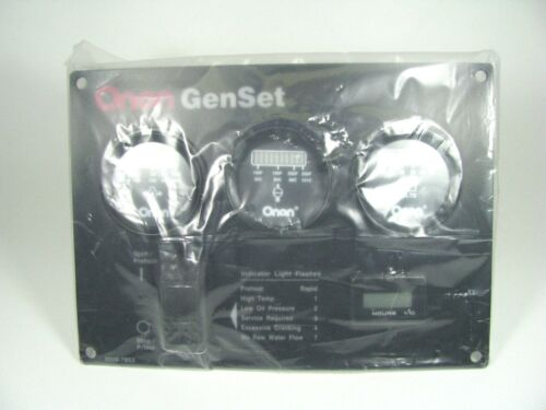 Onan GenSet Remote Gauge Panel Kit P//N 0319-5577-02 Switch Hours Oil Temp Volts