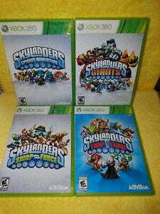 Various Skylanders Xbox 360 Games Giants+ Swapforce+ Spyro's Adventure+ TrapTeam