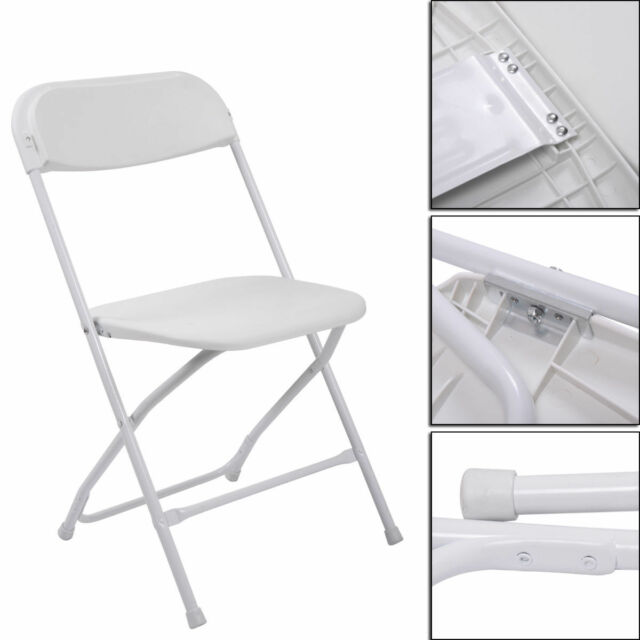 Fantastic 8Pcs Commercial White Plastic Folding Chairs Stackable Wedding Party Event Chair Uwap Interior Chair Design Uwaporg