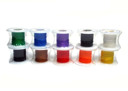 10 Roll Wire-Wrapping Wire Silver-Plated Copper 80Ft 26AWG RoHS any Color of 10