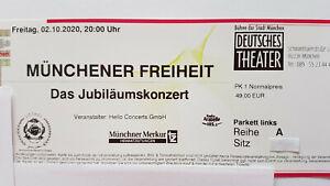2 x Münchener Freiheit 07.05.2022 München - 1. Reihe an der Bühne - neuer Termin