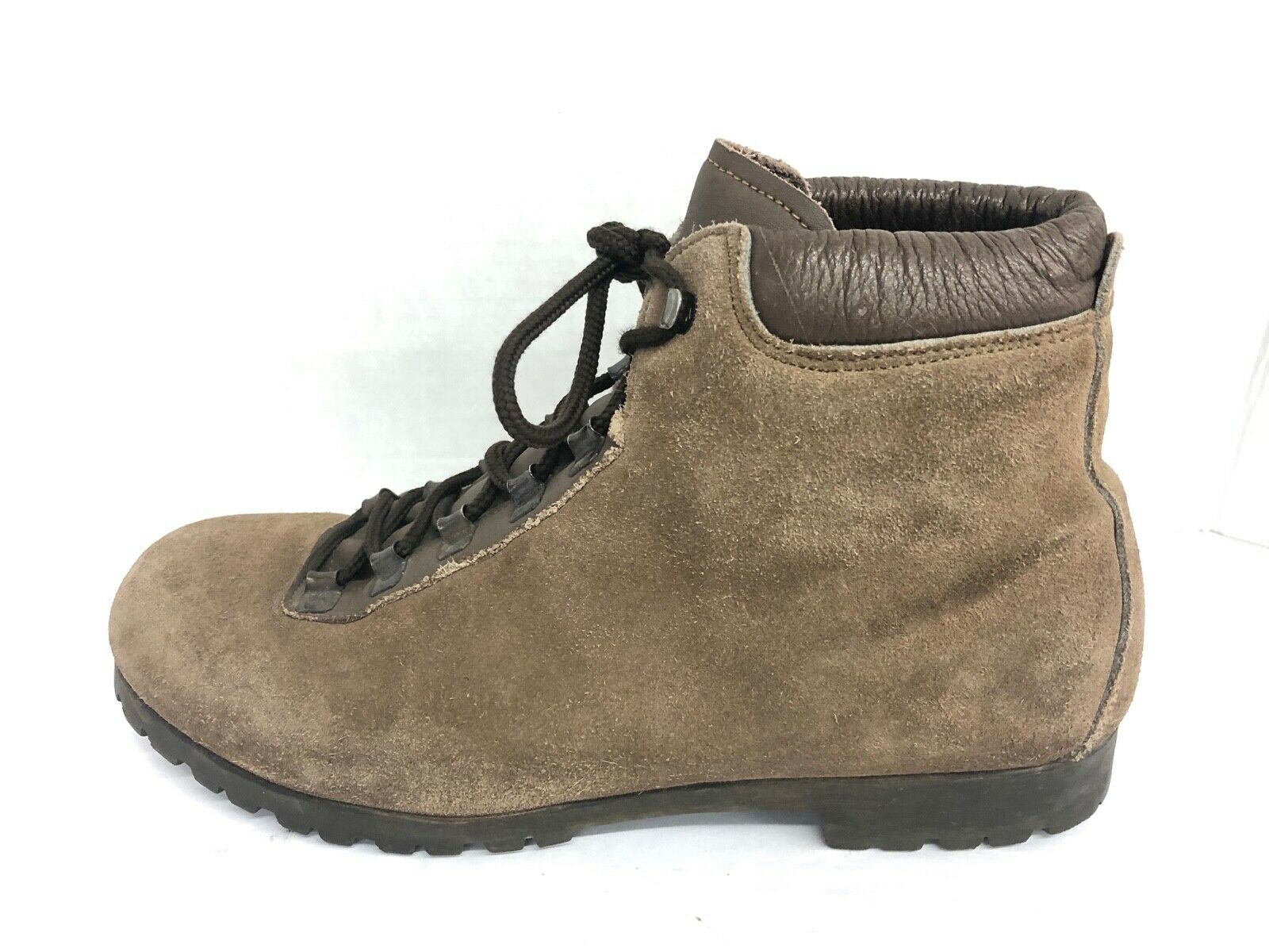 Vintage Italian  Brown Suede Hiking Boots Sz 9.5 M STYLE 6035 Women's