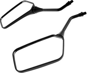 Universal-Adjustable-360-Black-10mm-Motorcycle-Scooter-Rear-View-Mirror-Pair