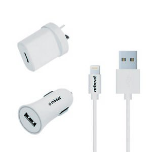 NEW-mbeat-3-in-1-MFI-USB-Lightning-Charging-Kit-w-2-1A-Car-Wall-Charger