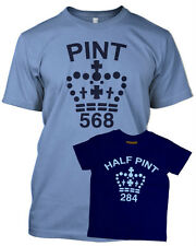 PINT HALF PINT FATHER SON BABY T shirt FATHERS DAY GIFT