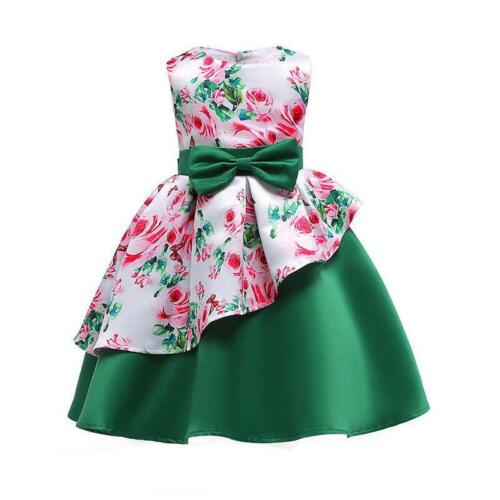 Girls Ball Gown Dress Wedding Princess Bridesmaid Party Prom Birthday for Kids N