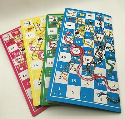 Complete Set Snakes And Ladders Folding Board Game For 2-4 Dice Incl Kids Games