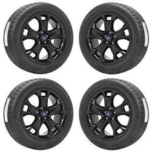 18 Ford Escape Black Wheels Rims Tires Factory Oem Set 3944 Ebay
