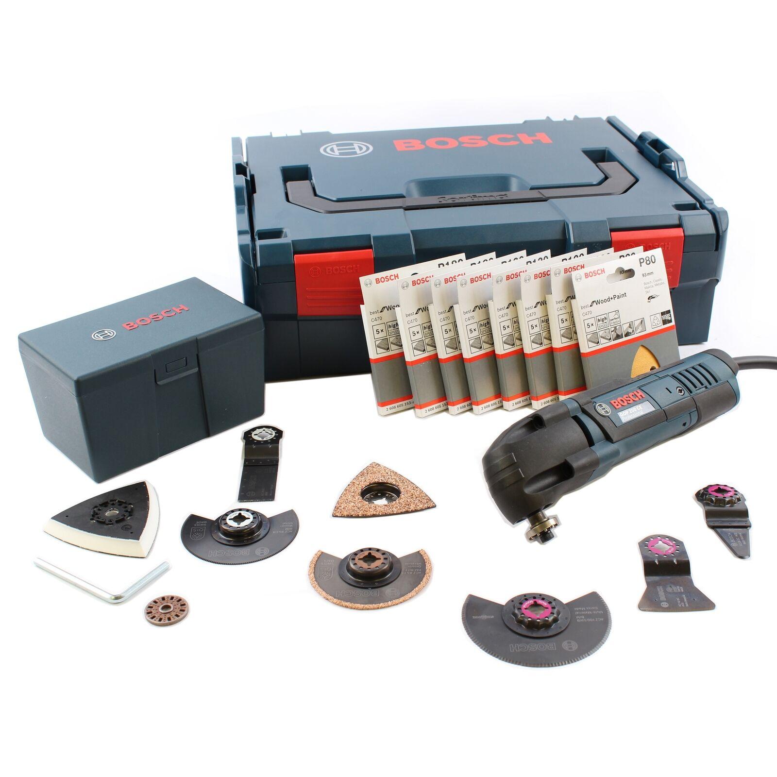 Bosch Professional GOP 250 CE Multifunktionswerkzeug + 48tlg. Zubehör + L-Boxx