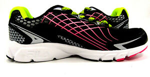 Womens Size 5 Shoes Black Yellow Pink