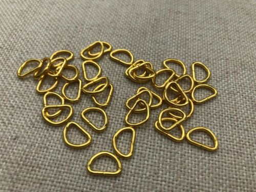 10mm 100 pcs 3//8/'/' Dee Rings for webbing strapping D ring- Gold cplor