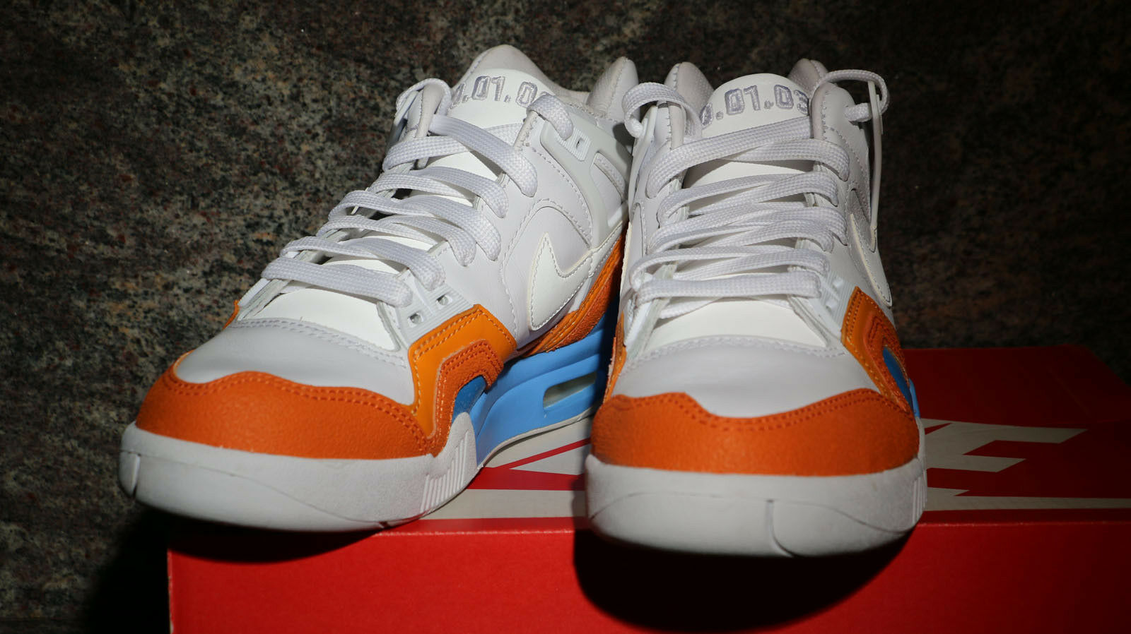 Nike air tech challenge ii sp open di australia bianca vivida blu 621358-100 sz