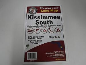 Kingfisher Map, KISSIMMEE SOUTH Lakes GPS Compatible, etc..