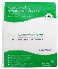 Readiwipes Dry - Macerator Deluxe, MediumPack of 75