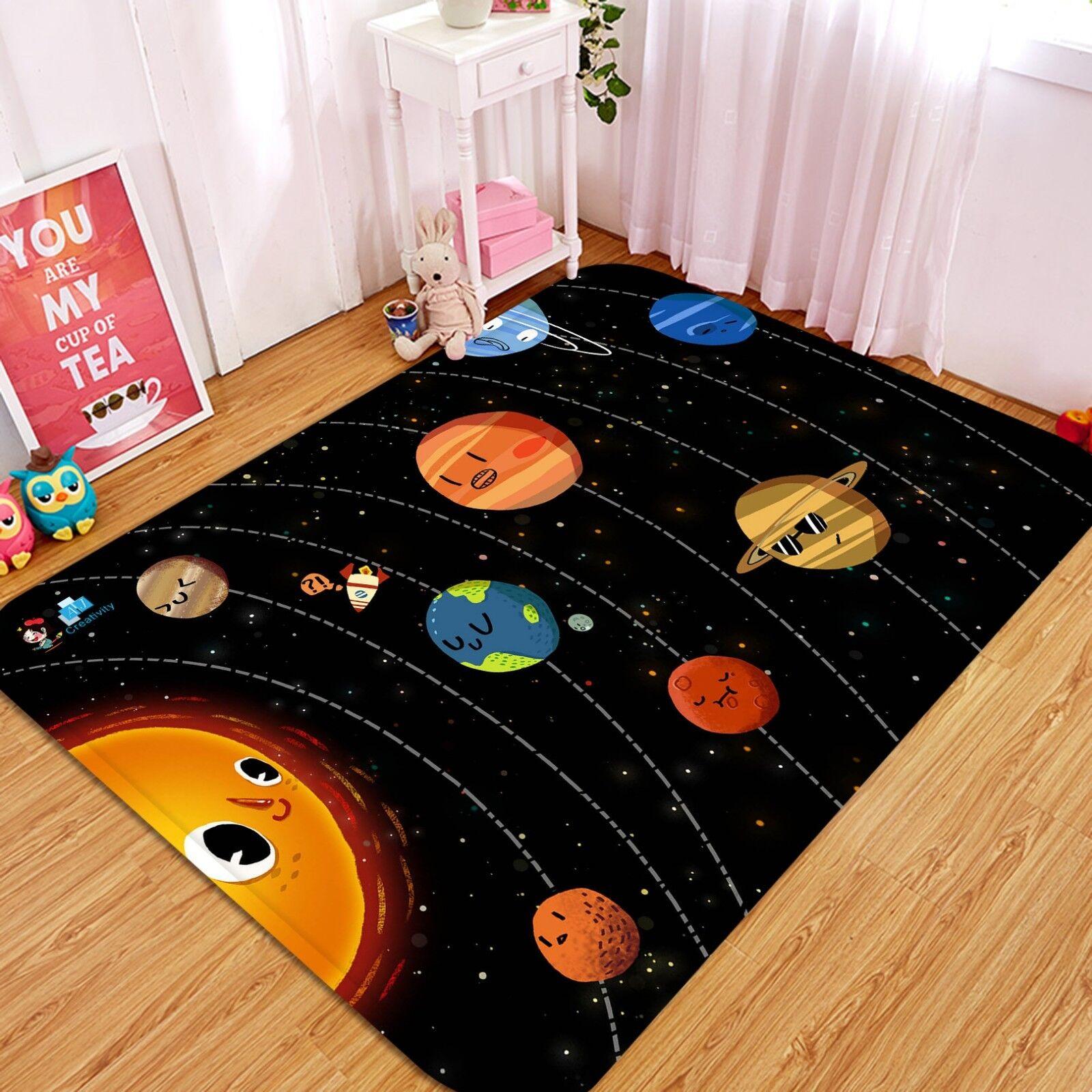 3d CARTOON PLANET 3 antiscivolo tappeto tappetino bagagliaio tappeto elegante de Carly
