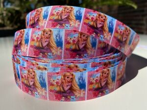 By the Yard 1 Inch Printed Disney Princess Rapunzel Grosgrain Ribbon Lisa
