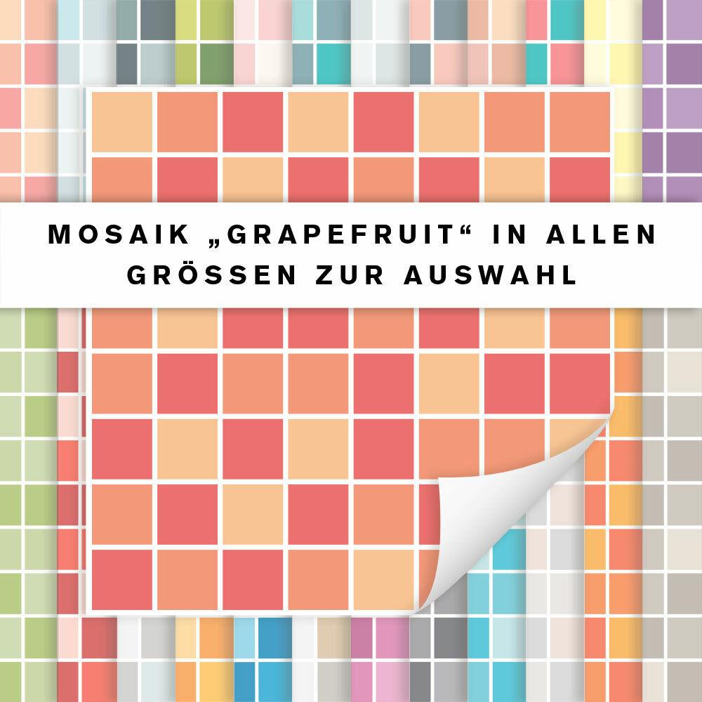 Fliesenaufkleber Mosaik Grapefruit   Fliesensticker Küche Bad   alle Größen