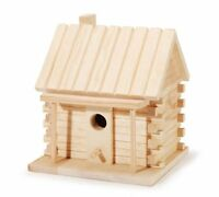 Darice 9184-91 Natural Wood Log Cabin Birdhouse, 8-inch , New, Free Shipping on sale