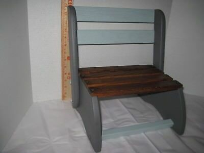 Cool Vintage Refurbished Wood Childs Folding Step Stool Bench Ebay Unemploymentrelief Wooden Chair Designs For Living Room Unemploymentrelieforg