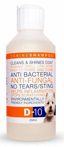 D-10-Shampoo-Anti-Fungal-Bacterial-039-No-Tears-039-a-Healthy-Shiny-coat-for-dogs