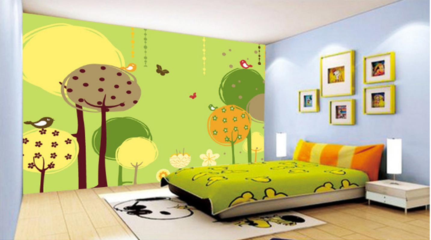 3D Cartoon Grün Tree8 Wallpaper Mural Paper Wall Print Wallpaper Murals UK Kyra