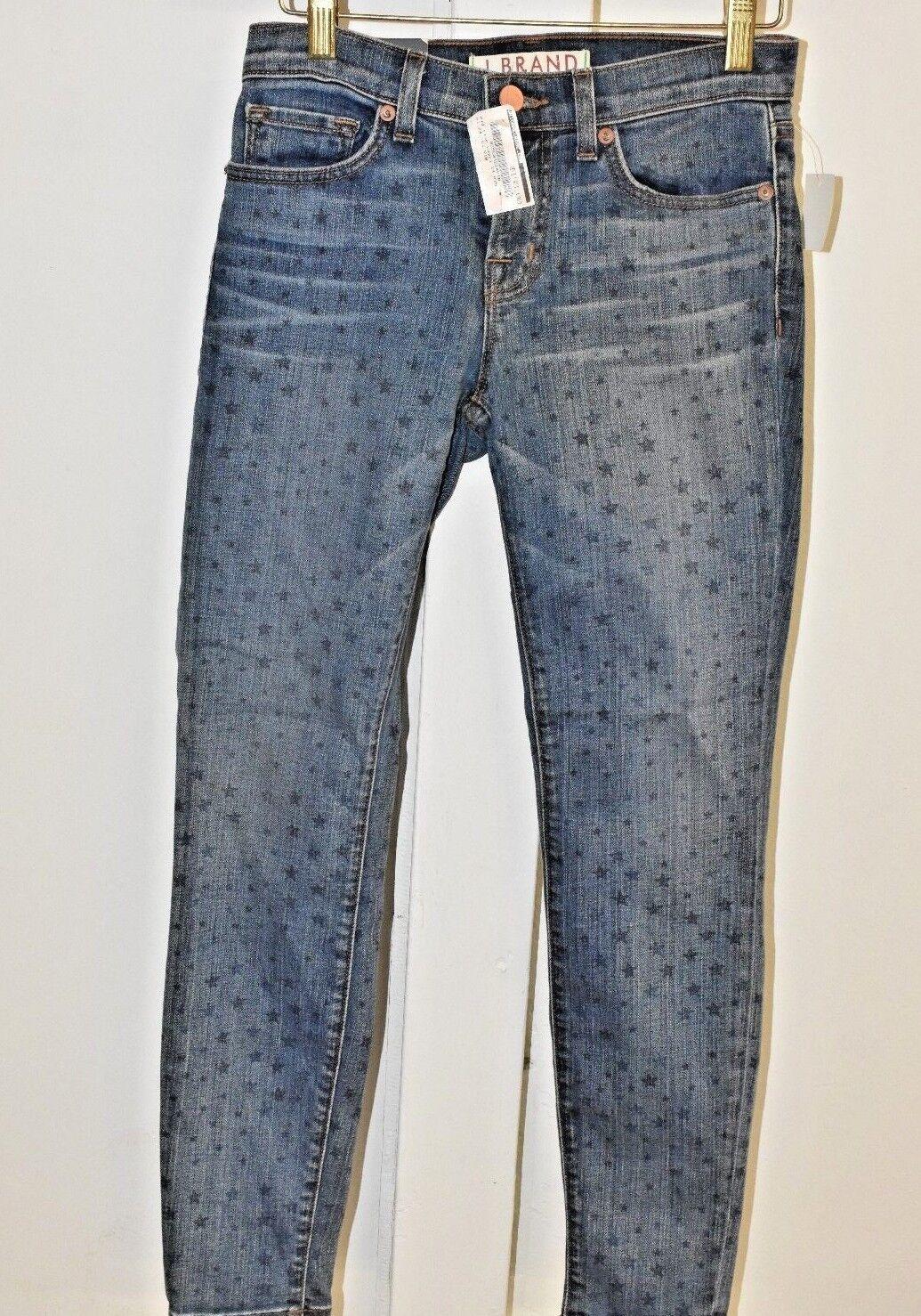 J Brand Mid Rise Capri Indigo Vin  Jeans StarS Drawing blueE  Slim Fit SKINNY