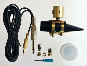 PiezoBarrel-P7-Alto-Sax-Pickup-Microphone-with-generic-Mouthpiece-amp-4m-Cable
