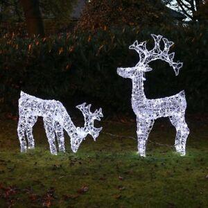 LED-Outdoor-Acrylic-Reindeer-Christmas-Decoration-Micro-Wire-Indoor-Garden