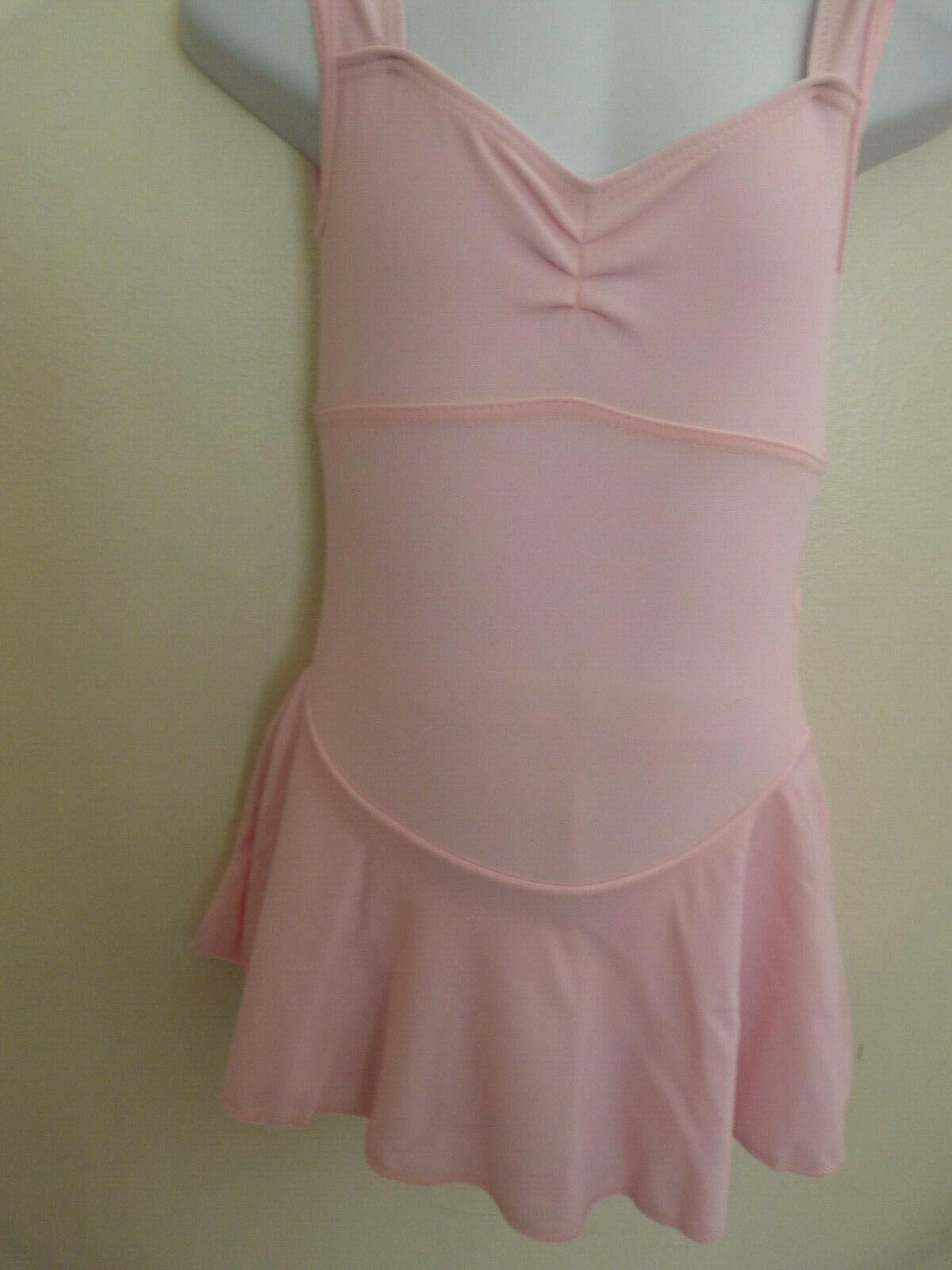 Roch Valley matt nylon lycra skirted pink leotard. R