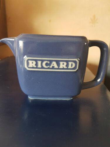 Petit pichet bleu faïence RICARD H 7cm
