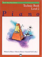 Alfred's Basic Piano Technic Book Lvl 2; Palmer, Manus & Lethco. - 2465
