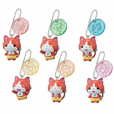 YoKai Watch Jibanyan Figure Keychain Medal Charm Youkai yo-kai set of 6 New JP