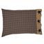 TETON-STAR-NAVY-CHECK-Pillow-Case-Set-Farmhouse-Rustic-Primitive-VHC-Brands thumbnail 1