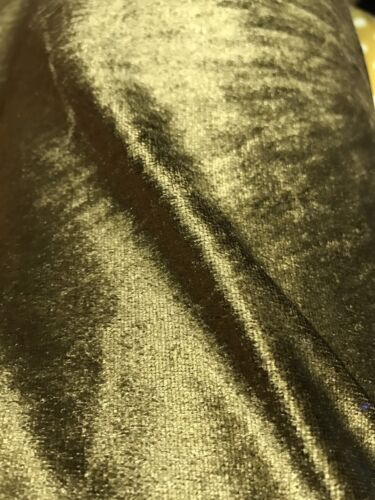 """Old Gold Velour Velvet 2 Way Stretch Fabric 58/""""W BTY Tablecloth Drape Wedding"""