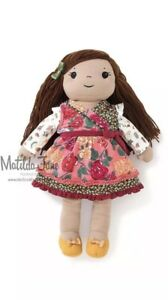"Matilda Jane Annika Doll In Fall Bouquet Dress Autumn Medley Top In Bag 18/"" New"