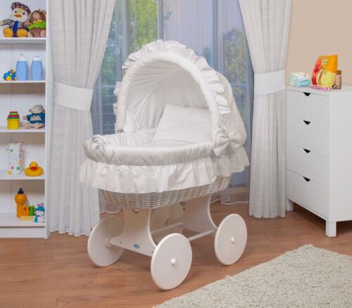 WALDIN Baby Bollerwagen,Stubenwagen, komplett mit Zubehör, XXL NEU !!! Weiß