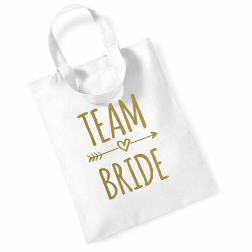 Team Bride Small Short Handle Tote Bag Gift Hen Party Wedding Bridal Shower