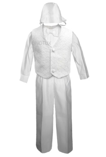 New Infant Boy Toddler Christening Baptism Formal Wedding Vest Suit S M L XL-4T
