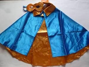 GYMBOREE-Halloween-Costume-Boy-Blue-Gold-Super-Hero-Cape-Mask-Sizes-XS-S-M-L-NEW