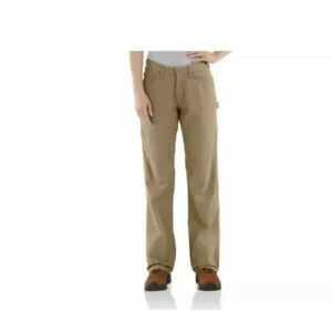 Carhartt Fr Lona Resistentes Al Fuego Para Mujer Trabajo Pantalones Tamano 6 X 30 Nuevo Caqui Bronceado Ebay