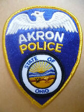 Patches: AKRON STATE OF OHIO USA POLICE PATCH (NEW* apx. 12.5x10 cm)