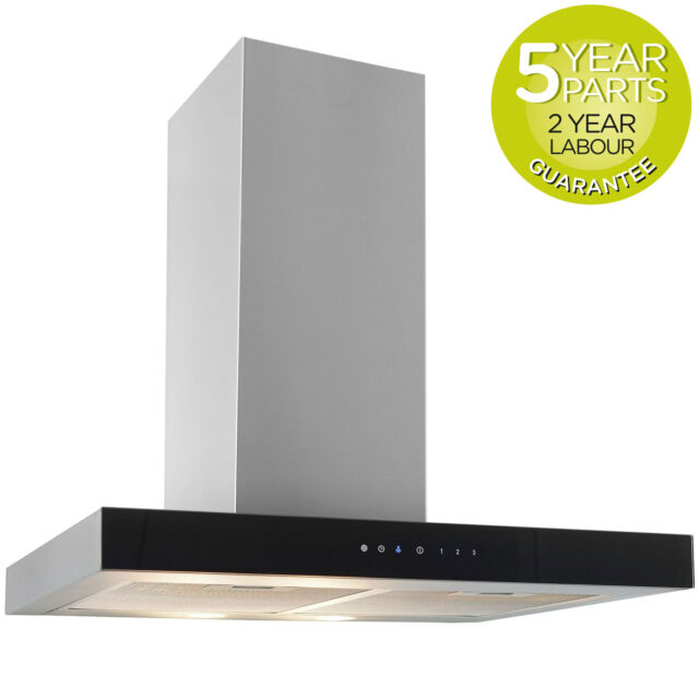 MyAppliances REF10302 60cm Box Chimney Cooker Hood Extractor Fan Touch Control