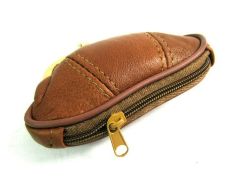 Ladies Womens Super Soft Genuine Leather Clip Top Purse Coin Pouch Wallet
