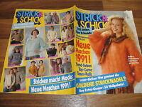 STRICK & SCHICK  1/1991 -- über 30 Modelle // MOHAIR-FLAUSCH in neuen Farben