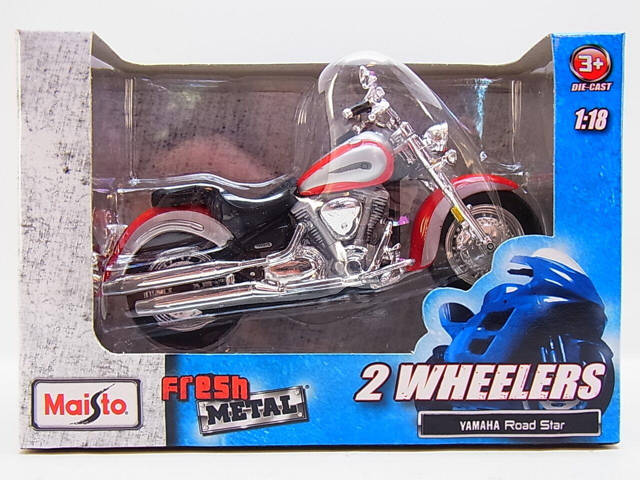 LOT 13272   Maisto 2 Wheelers  Yamaha Road Star  Die-Cast Motorrad 1 18 NEU OVP