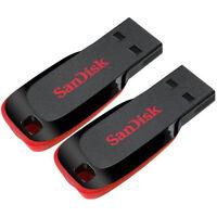 Sandisk 16gb X2= 32gb Cruzer Blade Usb Thumb Pen Flash Drive Memory Stick Sdcz50